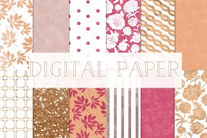 "digital paper ""peonies"""