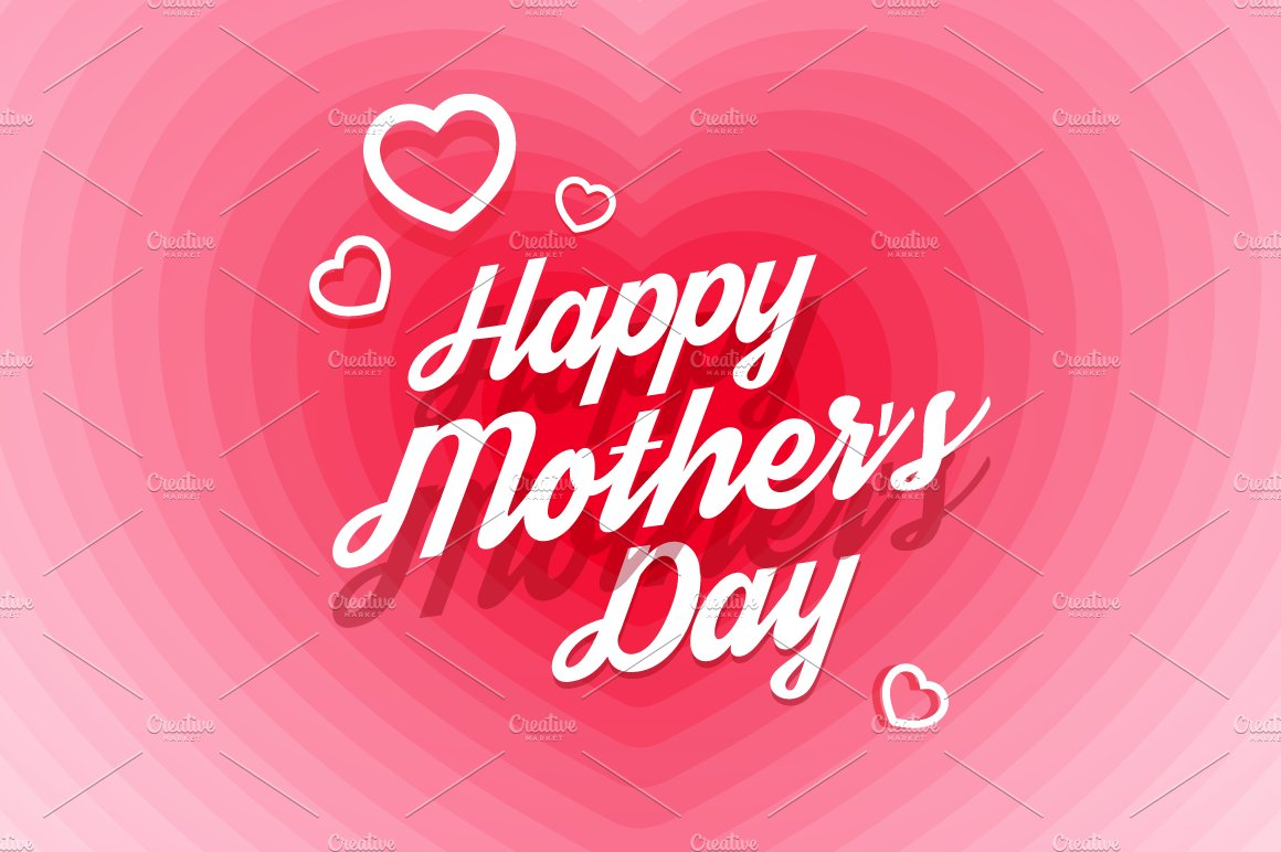 Happy Mothers Day Greeting Card Illustrations Creative Market