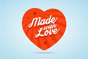 Made with love illustration.