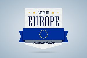 Made in Europe badge