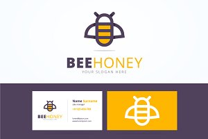 Bee logo and business card