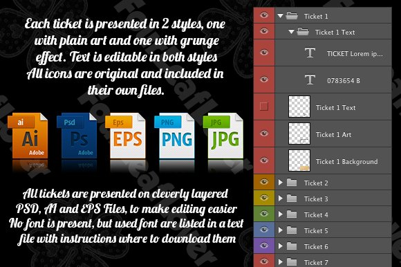 Cinema Tickets Templates in Illustrations - product preview 3