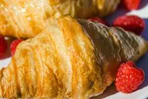 Croissants with berries