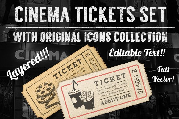 Cinema Tickets Templates in Illustrations