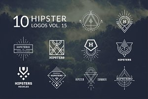 10 Hipster Logos Vol. 15