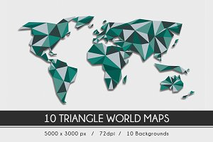 Triangle World Map Backrounds