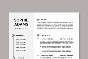 Minimal Creative Resume + Letter