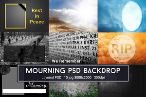 Mourning PSD Backdrop
