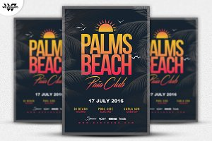 SUMMER PALM BEACH Flyer Template