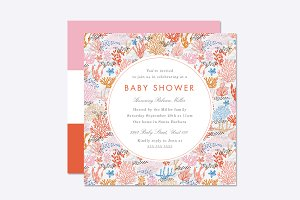 Coral Reef Baby Shower Template