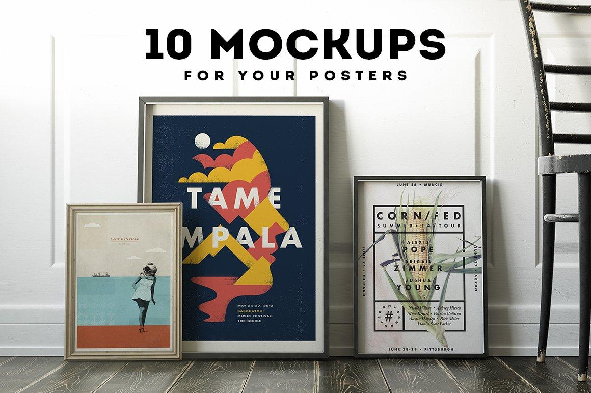 Poster Frame Mockup Set ~ Product Mockups ~ Creative Market