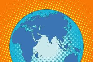 Earth Eurasia Africa Australia