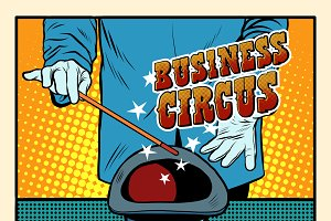 Business magic hat circus