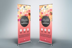 Flower Roll-Up Banner - SB