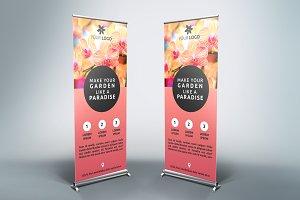 Flower Roll-Up Banner - SB