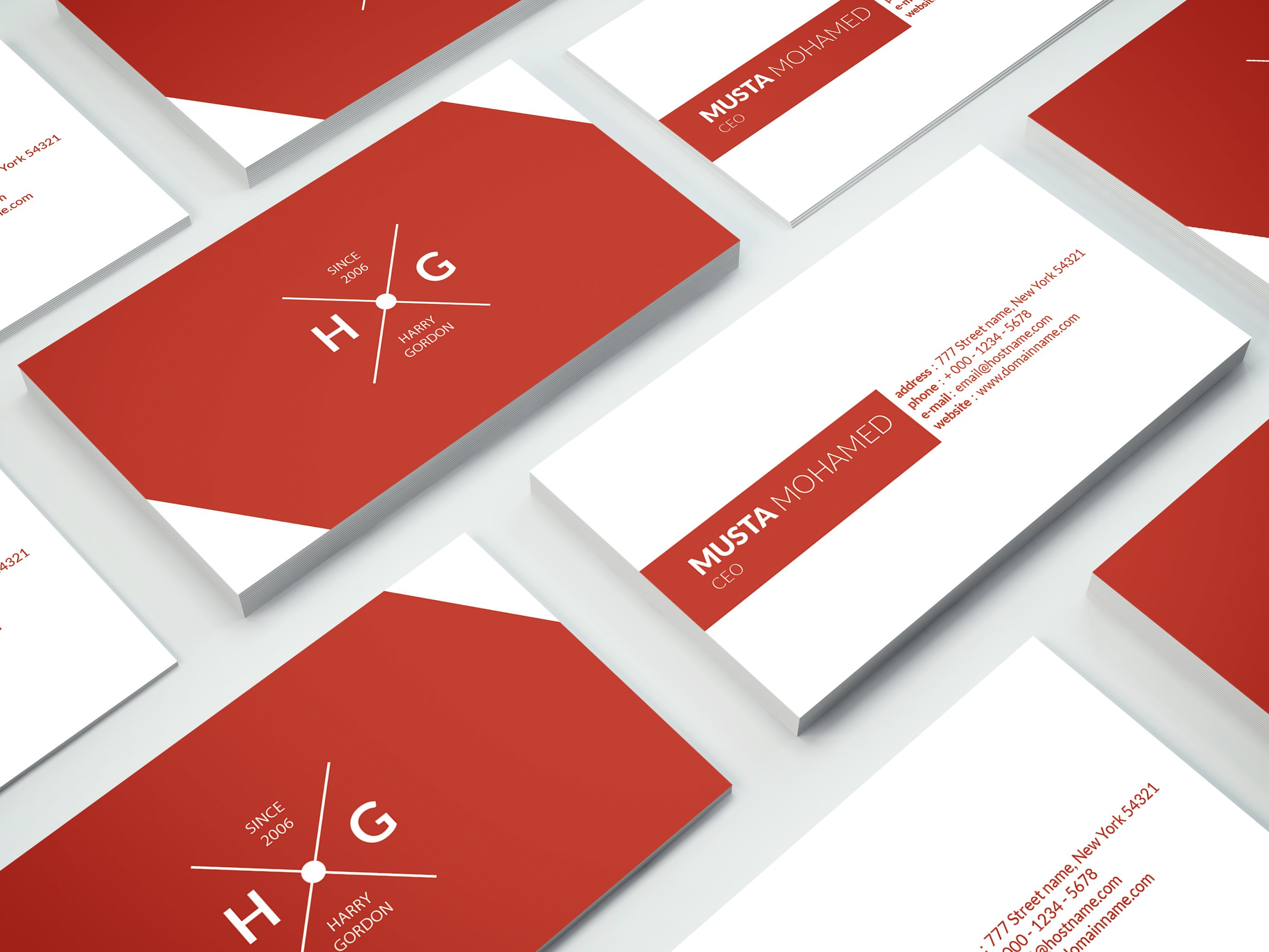 Red business card business card templates creative market reheart Images