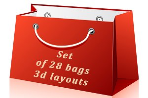 Set of 28 bags 3d layouts