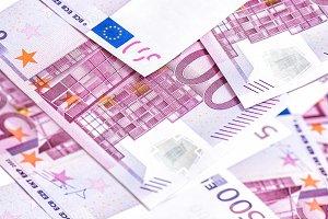 500 Euro bills banknotes