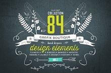 Hand drawn clip art. 84 elements!