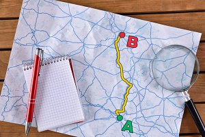 Planning a path on a paper