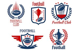 American football sport icons