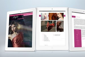iPad Fashion Magazine Template