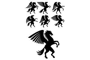 Mythical gorgeous winged pegasus
