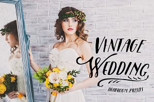 40 Vintage Wedding Lightroom Presets