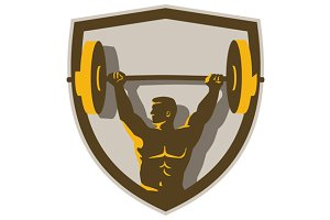 Weightlifter Lifting Barbell Crest