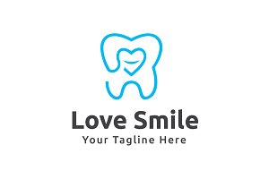 Love Smile Logo Template