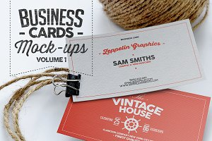 Business Card Mock-ups Vol.1