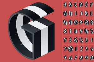 11 Types of 3D stripped alphabet