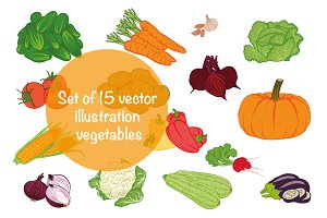 Vector illustration vegetables
