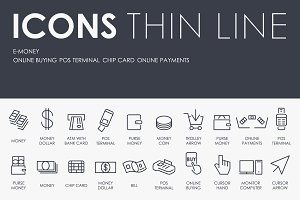 E-money thinline icons