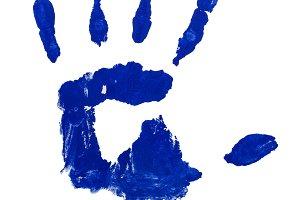 Prints Hand Blue