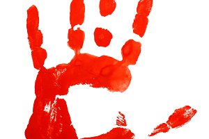 Prints Hand Red