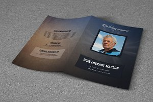 Funeral Program Template-T475