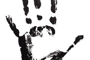Prints hand black