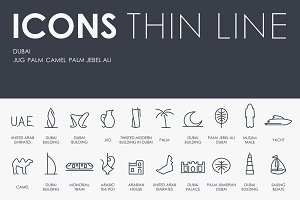 Dubai thinline icons