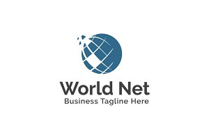 World Net Logo Template