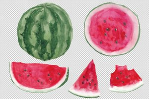 Watermelon - Watercolor