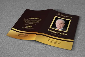 Funeral Program Template-T477