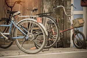 Vintage bicycle.