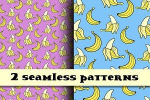 Banana seamless patterns