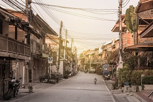 Old town in Thailand