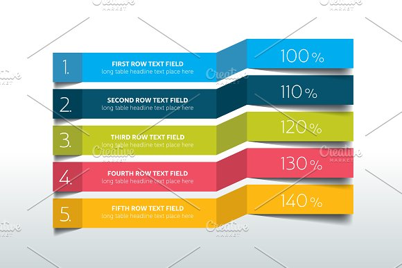 Table schedule infographic Presentation Templates on Creative – Schedule Design Templates