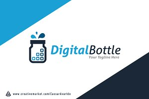 Digital Bottle Logo Template