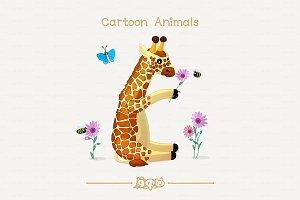 ♥ vector African giraffe