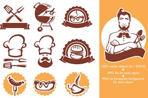 Food emblems bundle