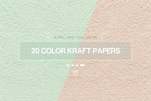 20 Color Kraft Papers